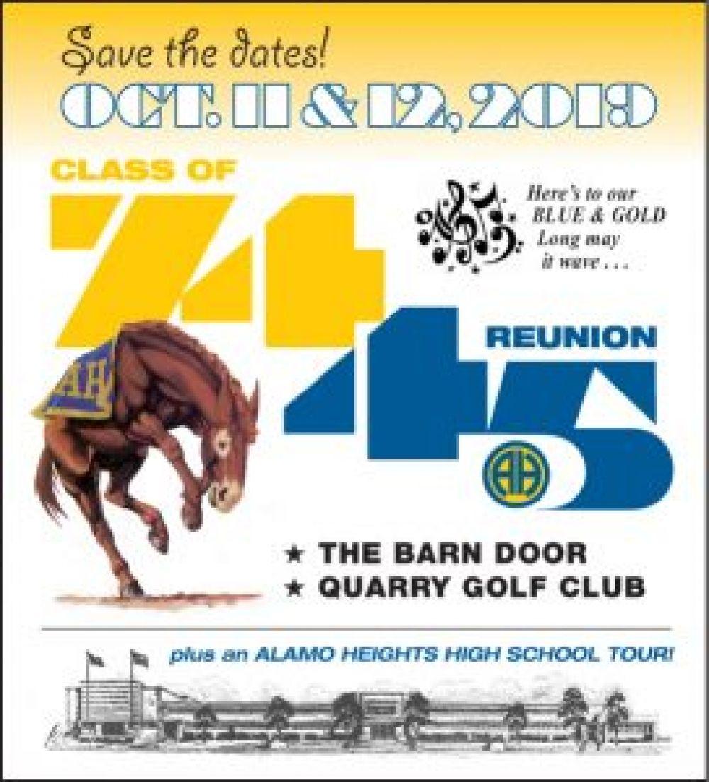Class of 1974: 45th Reunion