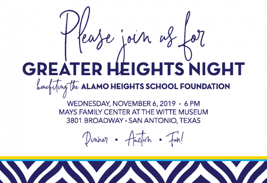 Greater Heights Night