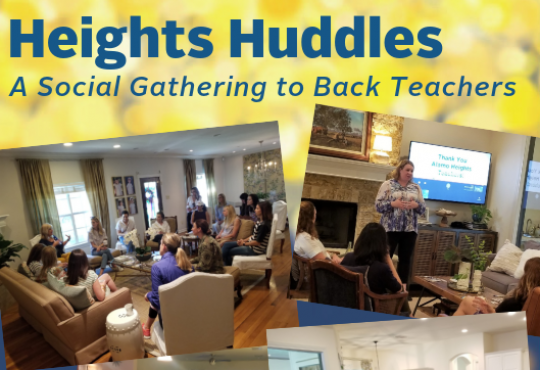 Heights Huddles: A Social Gathering to Back Teachers